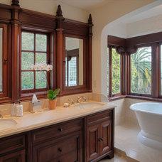 Mediterranean Bathroom by Nicole Benveniste Interior Design