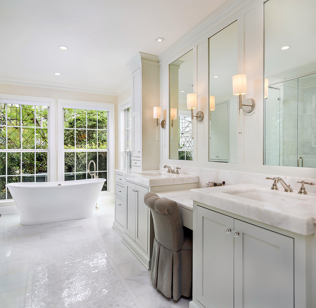 Traditional Bathroom by Terry M. Elston, Builder