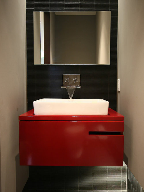 Red Powder Room Home Design Ideas Pictures Remodel And Decor