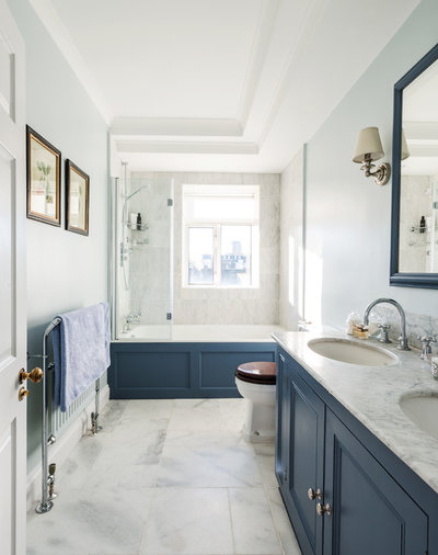 Transitional Bathroom by Lisette Voute Designs