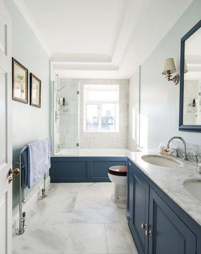 Transitional Bathroom by Lisette Voute Designs