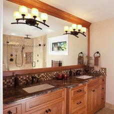 Traditional Bathroom by Timeline Design
