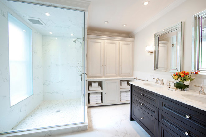 Traditional Bathroom by J Thom Kitchen Cabinetry