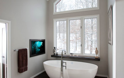 From Dated Southwestern to Serene Minimalism in a Cleveland Bathroom