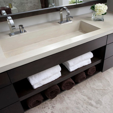 Trough Sink Two Faucets : Trough Sink Design Ideas, Pictures, Remodel and Decor