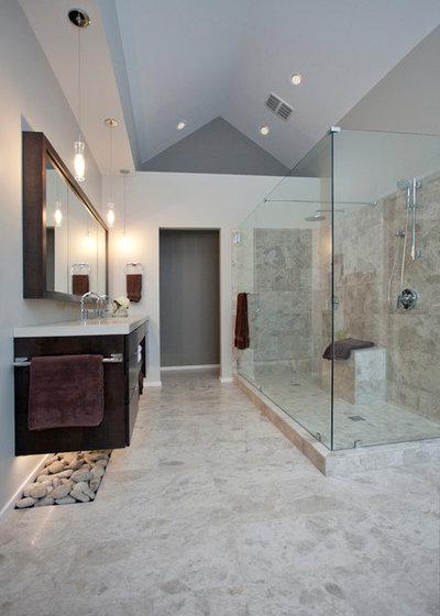Avant apr s une salle de bains vieillotte fait peau neuve for Cabine douche study