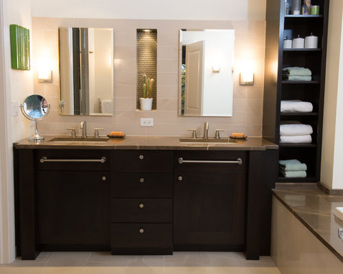 Dark Stained Maple Cabinets Home Design Ideas, Pictures ... on Dark Maple Cabinets  id=24736