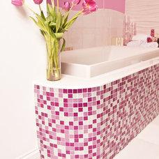 Contemporary Bathroom by Susan Jablon Mosaics