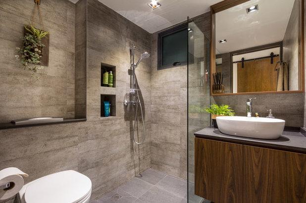 Contemporary Bathroom by Fineline Design Pte Ltd