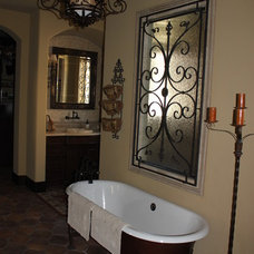 Mediterranean Bathroom by Level Development Group LLC