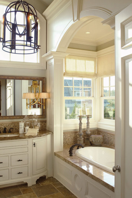 Eclectic Bathroom by House Plans and More