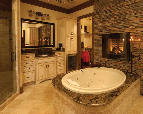 Bathroom Fireplace Houzz
