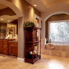 mediterranean bathroom by Sterling Custom Homes