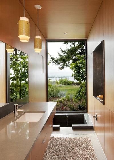 Contemporaneo Stanza da Bagno by Coates Design Architects Seattle