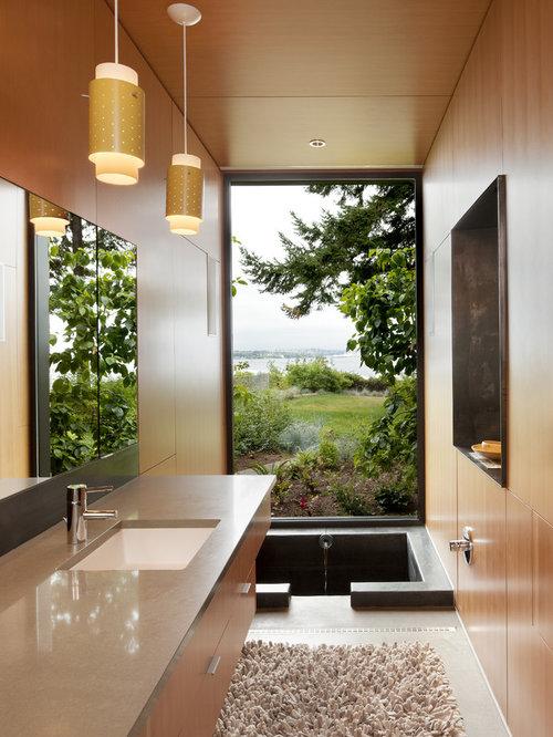 trendy japanese bathtub photo in seattle