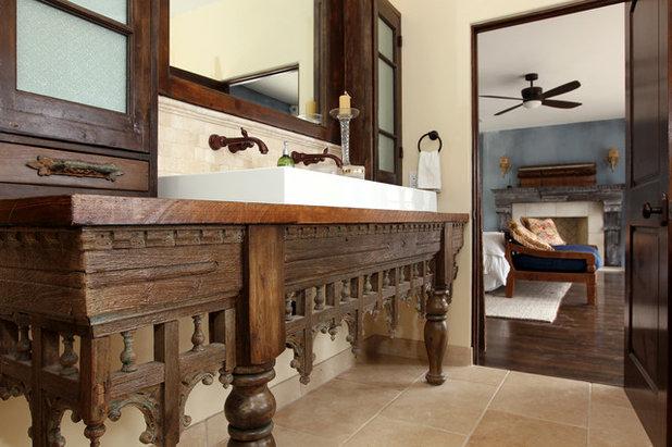 Mediterranean Bathroom by Custom Design & Construction
