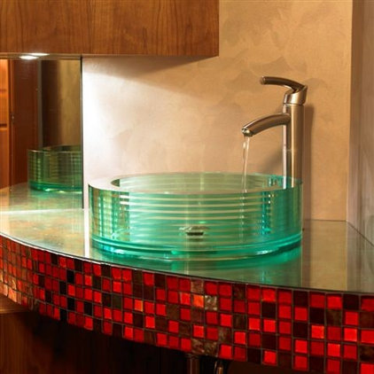 Eclectic Bathroom by The Sky is the Limit Design