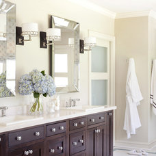 transitional bathroom by Tobi Fairley Interior Design