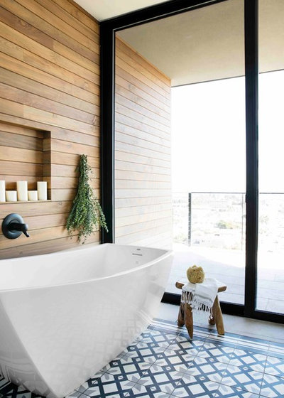 Transitional Bathroom by Tidal Interiors
