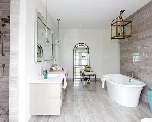 Marvelous Light Gray Bathroom Floor Tile On Home Decor Interior Design With