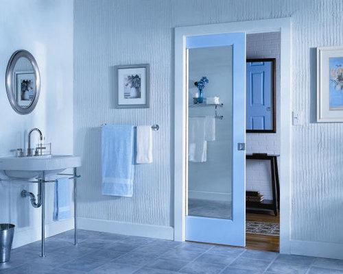 Pocket Door Mirror Design Ideas Remodel Pictures Houzz