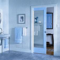 Contemporary Bathroom Pocket Doors