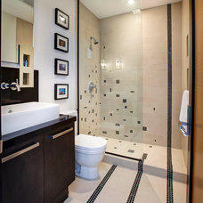 Contemporary Bathroom by Storch Entertainment Systems