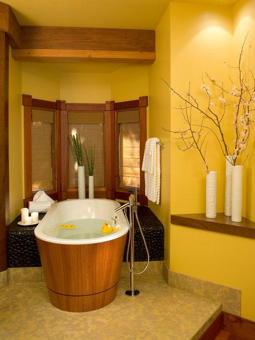 World inspired bathroom design ideas renovations photos - Bathrooms with yellow walls ...
