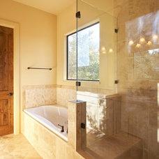 Mediterranean Bathroom by SILVERTON CUSTOM HOMES