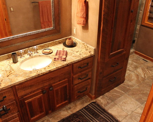 Rustic Bathroom Cabinets | Houzz