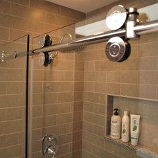 Transitional Bathroom by KraftMaster Renovations