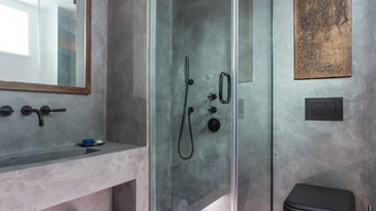 Polished concrete bathroom - Wapping, London E15