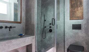 Polished concrete bathroom - Wapping, London E15
