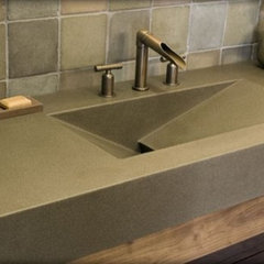 modern bathroom Polished Concrete Sink