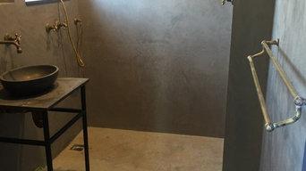 Polished plaster bathroom