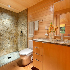 Transitional Bathroom by Eric Reinholdt, Architect