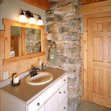 Traditional Bathroom by Habitat Post & Beam, Inc.