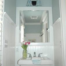 Traditional Bathroom by The Window Scene