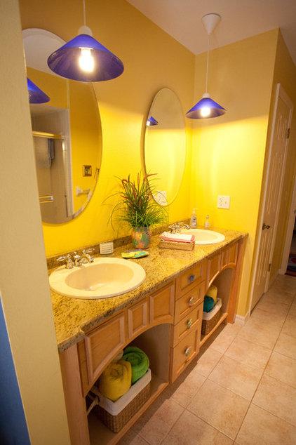 Tropical Bathroom by Walter Price Design Build