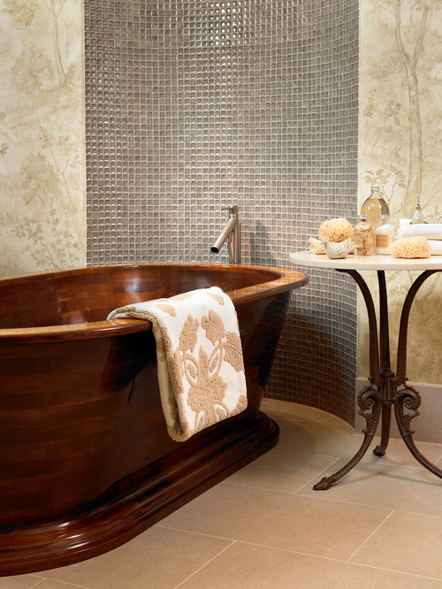 most comfortable freestanding tub. Example of a trendy mosaic tile freestanding bathtub design in Nashville Most Comfortable Bathtub  Houzz