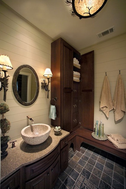 Eclectic Bathroom by Leland Interiors, LLC