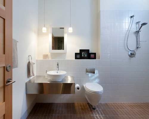 Small wet room houzz for Wet floor bathroom designs
