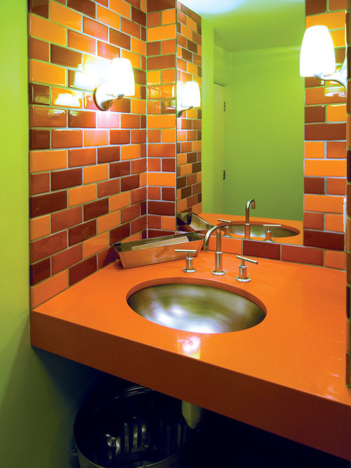 Bathroom design ideas renovations photos with orange for Bathroom design jobs london