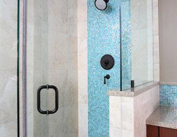 Pops of Color for Contemporary Bathroom