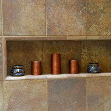 Transitional Bathroom by Ensotile - Atlanta Bathroom Remodeling