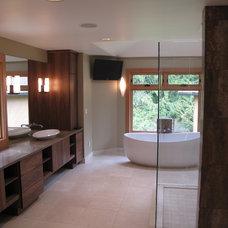 Contemporary Bathroom by LisaLeo designs