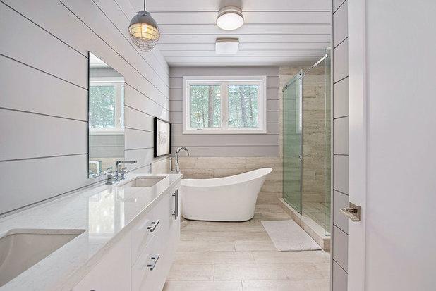 Rustic Bathroom by Custom CADD Inc