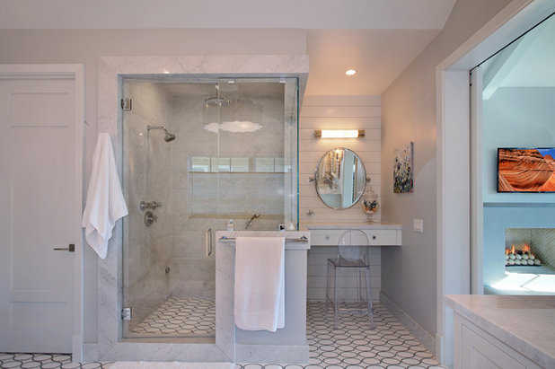 Marvelous Transitional Bathroom by Brandon Architects Inc
