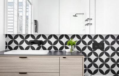 Salle de bains de la Semaine : Jeu de motifs géométriques