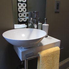 Eclectic Bathroom by Olive Juice Designs